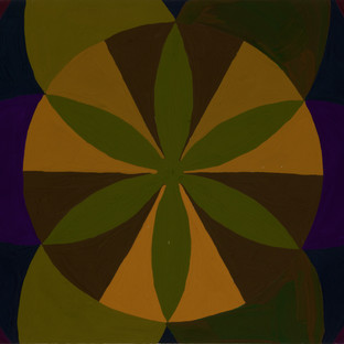Mandala in 2ndary triad 1 [orange, violet and green]