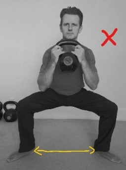 incorrect squat pattern
