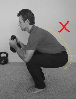 incorrect squat pattern - too narrow