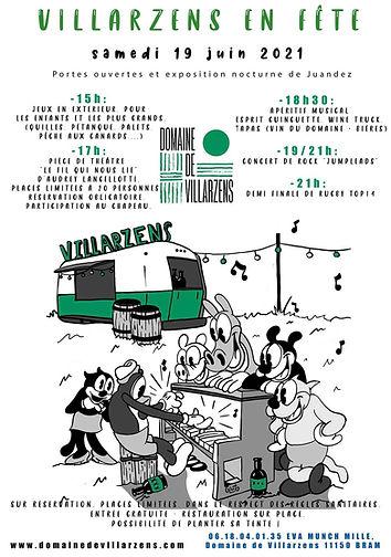 Soirée au domaine de Villarzens le 19 Juin 2021 !