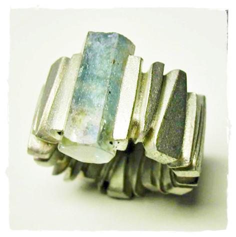 Aurealis Aquamarine Crystal Ring