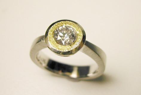 Aurealis diamond sun ring
