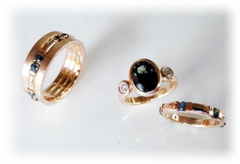 Aurealis Rose Gold Sapphire Rings