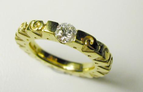 Aurealis diamond solitaire ring