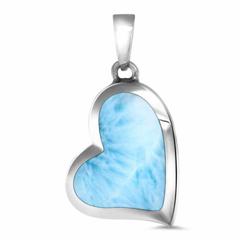Larimar Floating Heart Necklace