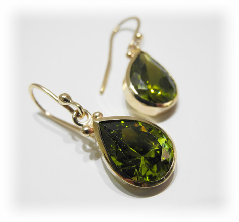 Aurealis Peridot Tear Drop Earrings