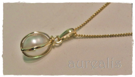 Aurealis Pearl Cage Pendant