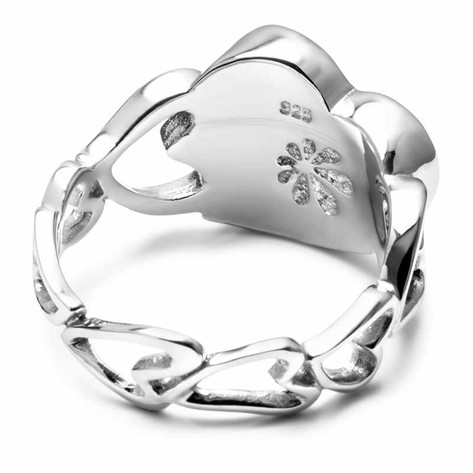 Larimar Floating Heart Ring