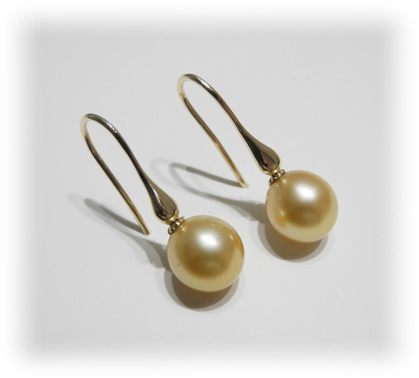 Aurealis Golden South Sea Pearl Earrings