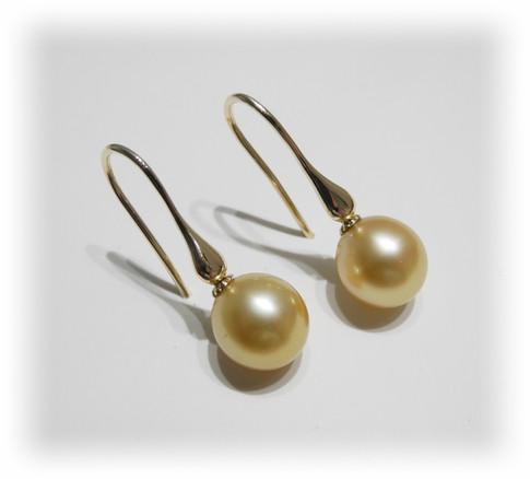 Aurealis Golden South Sea Pearl Earrings
