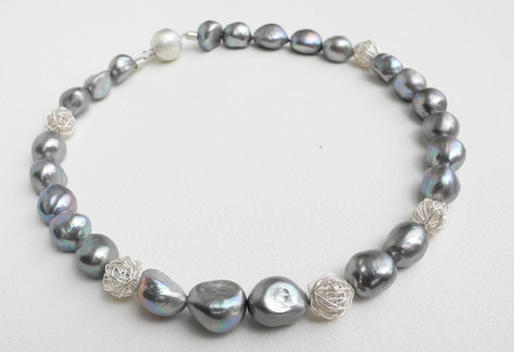 Aurealis Grey Freshwater Pearl Necklace