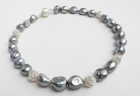 Aurealis Grey Freshwater Pearl Necklace