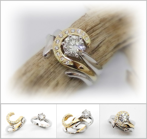 Contemporary wedding set