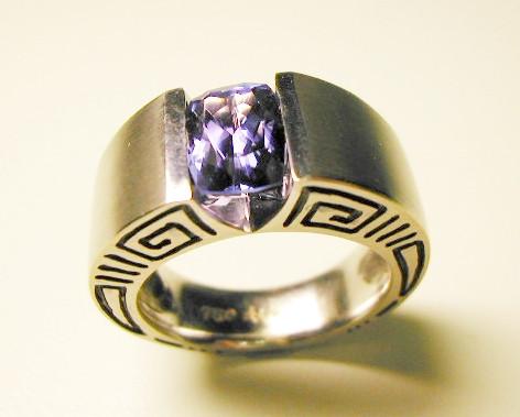 Aurealis tanzanite ring