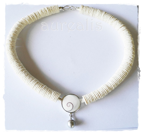 Aurealis Ostrich Egg Shell Necklace