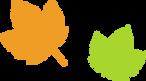 シンプルなメープルの葉