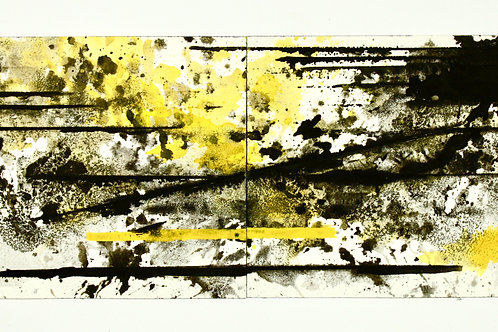 Black and White with Yellow Study #1