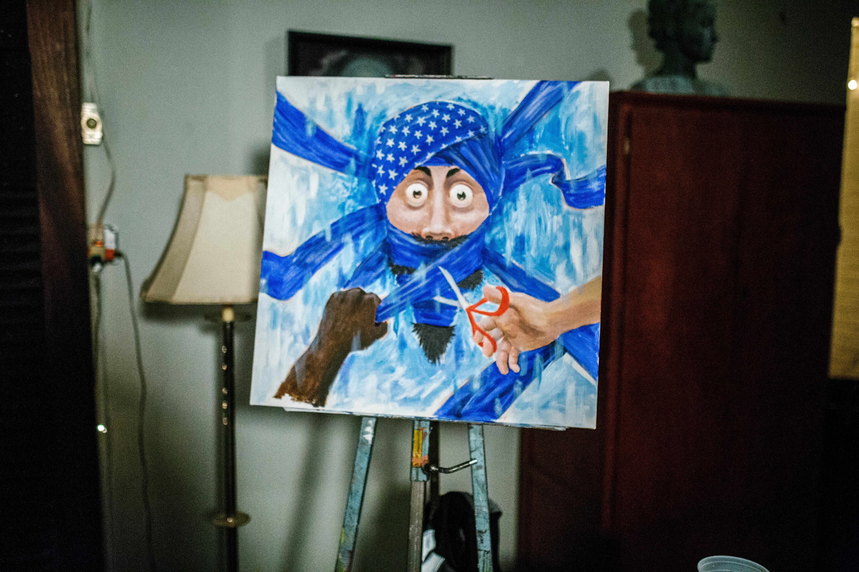 Painting by Matthew Ghadban