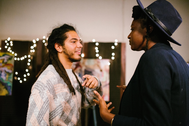 Artist Wilton Tejeda with Priscilla