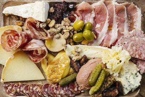 Cheese, Charcuterie, Pate, Rillette board