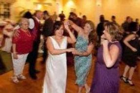 A Bride kicks up her heels