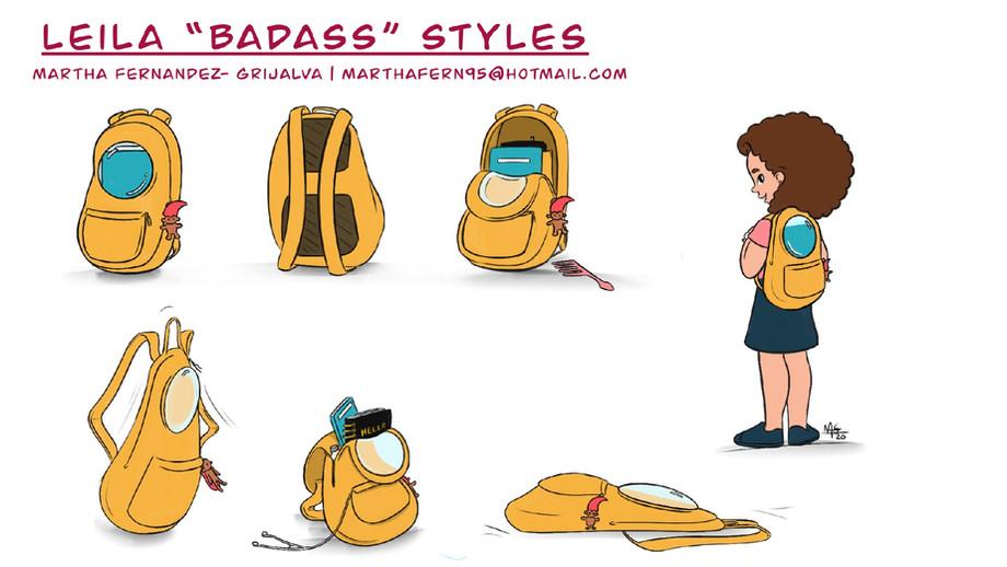 "Leila ""Badass"" Styles Backpack"