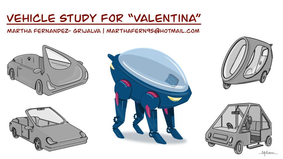 Vehicle Study for my original character, Valentina