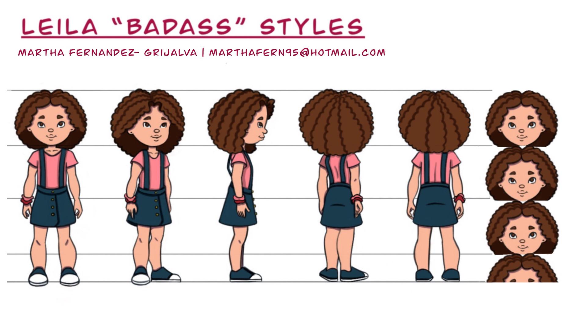 "Leila ""Badass"" Styles turn around"