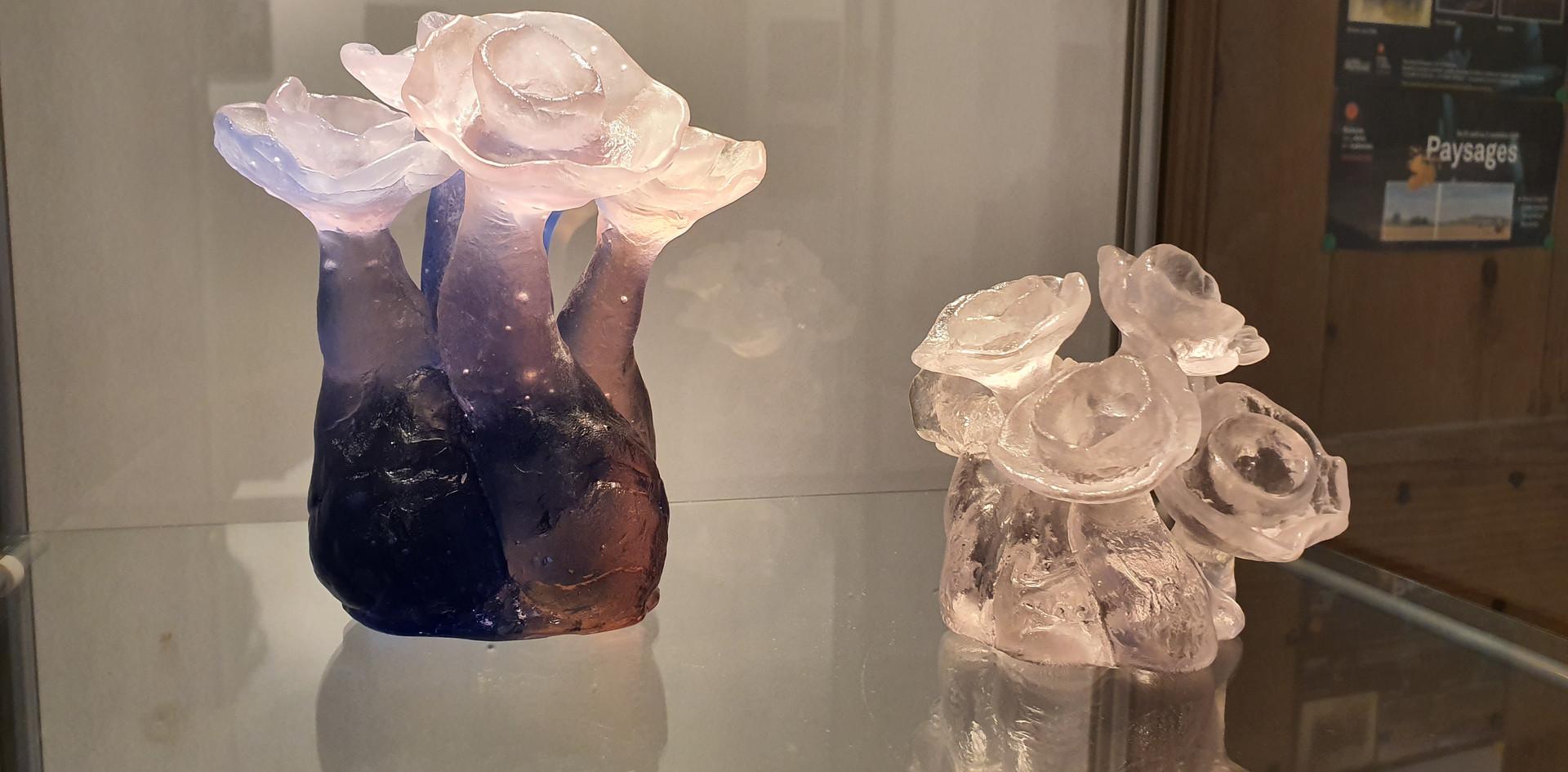bouquets en verre de HANNEKE FOKKELMAN