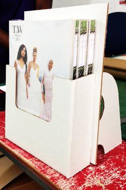 WEDDINGS MAGAZINE HOLDER
