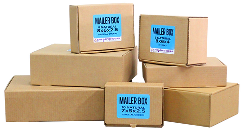 Natural Corrugated Boxes