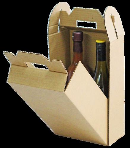 Natural Corrugated Handle Box