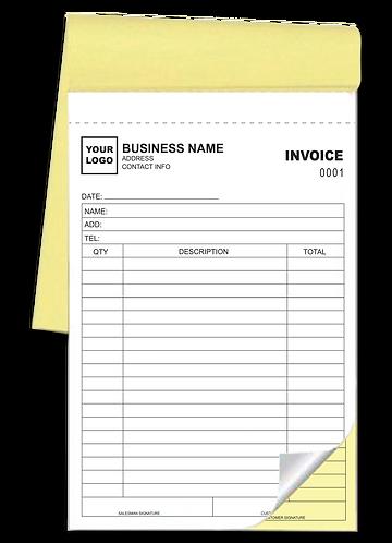 Invoice & Receipt Books