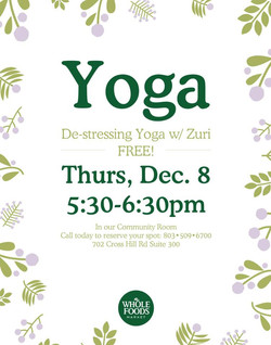 First Yoga Flyer for Whole Foods