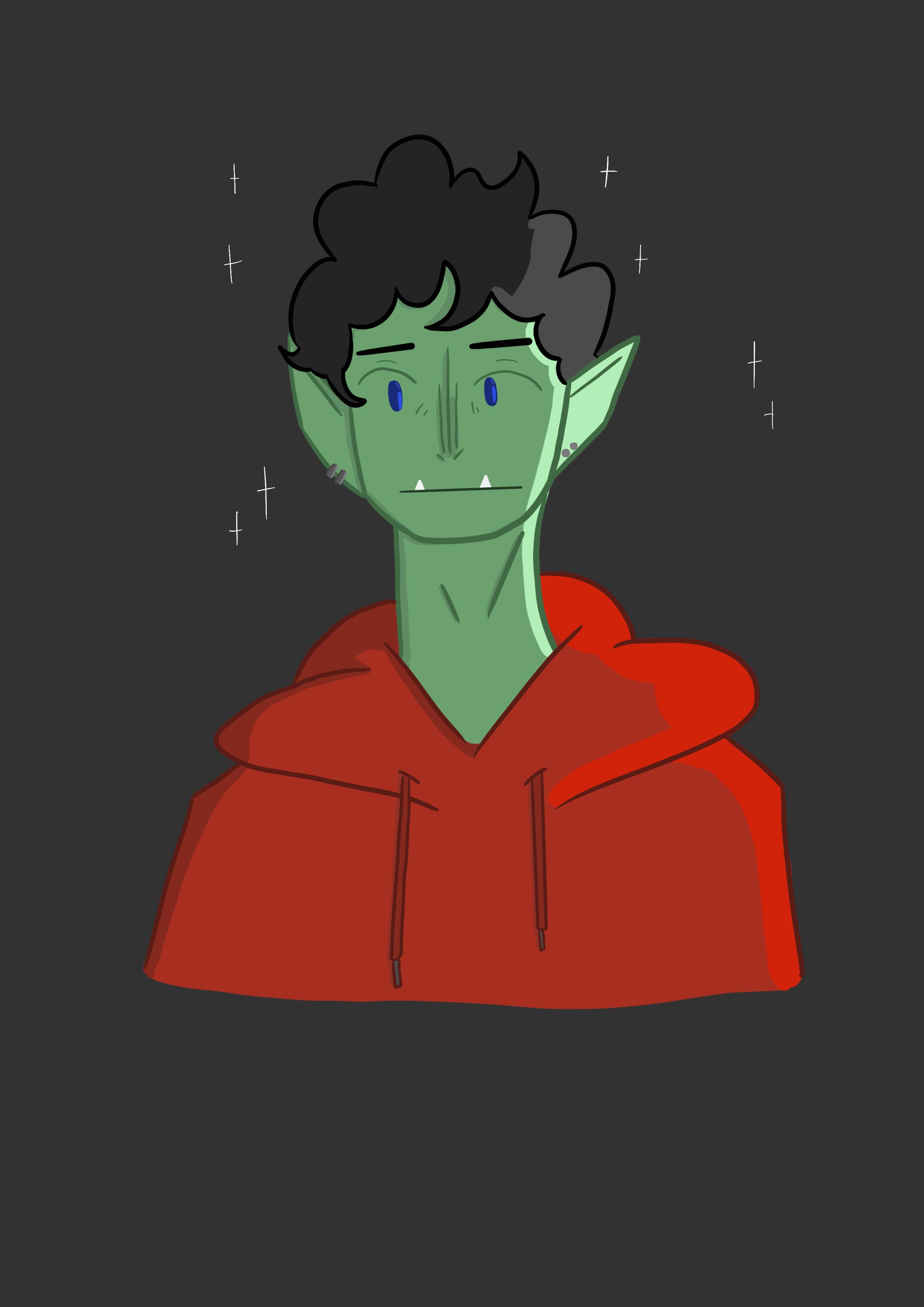 Gorg in hoodie