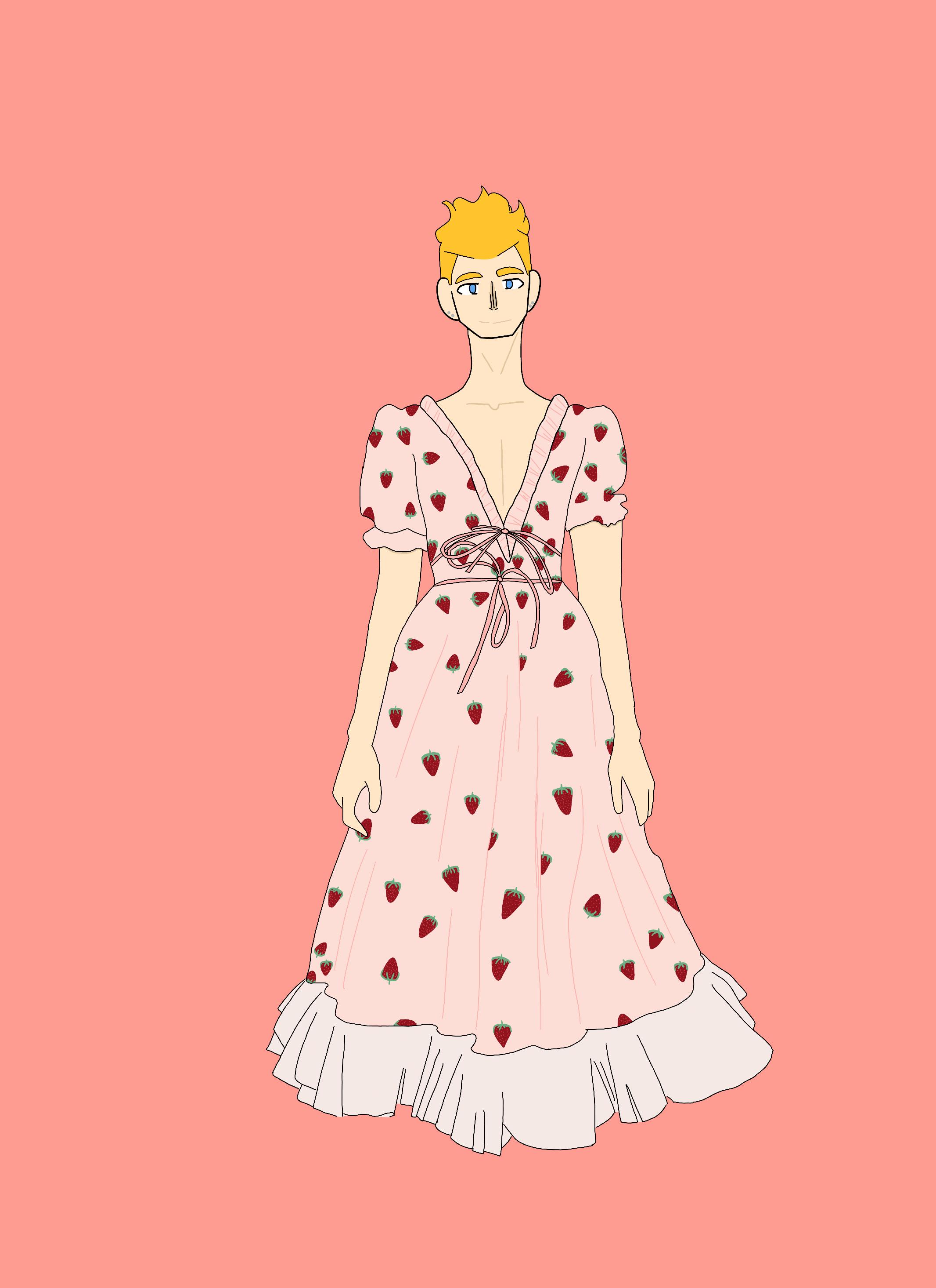 Strawberry dress Lukas