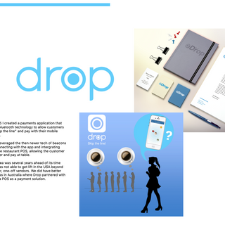In 2014 I was one of three founders of Pay with Drop, a bluetooth mobile payments app.