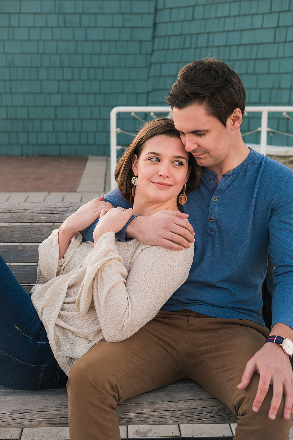 Cuddling Engagement Photography