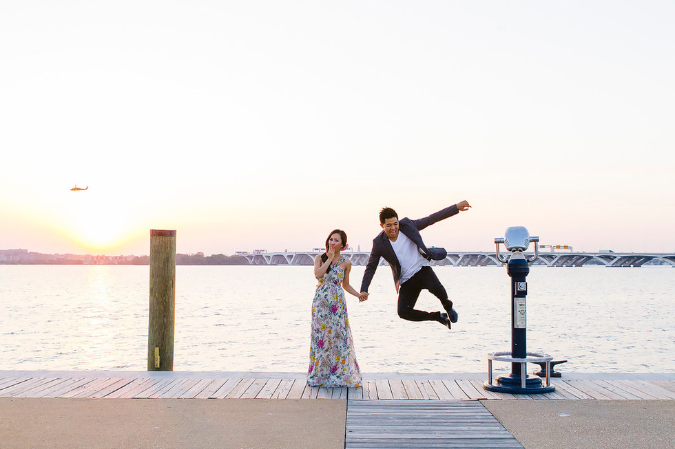 National Harbor Engagement Photography