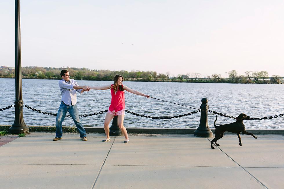 Couple's Dog Engagement Photography