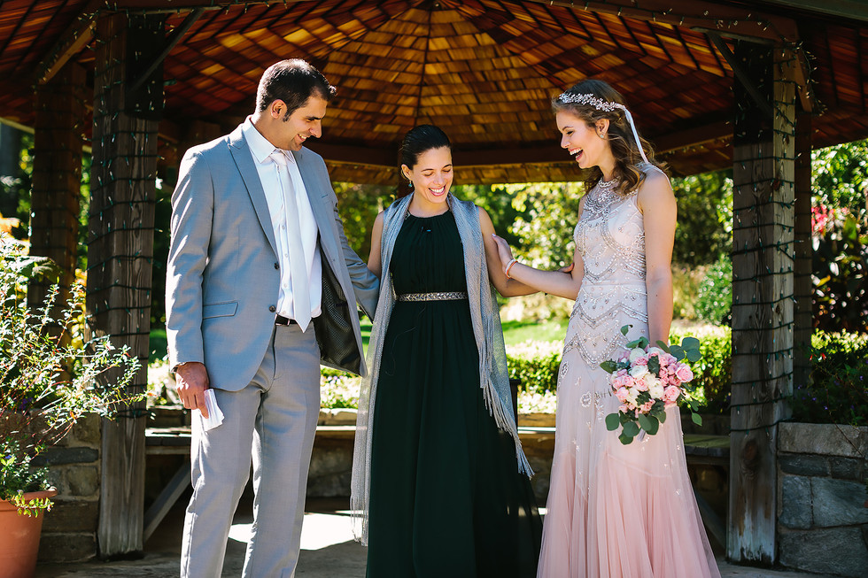 Wedding Officiant with Bride & Groom