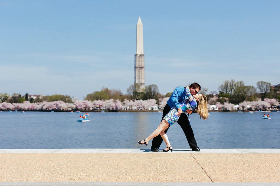 Washington Monument Engagement Photography
