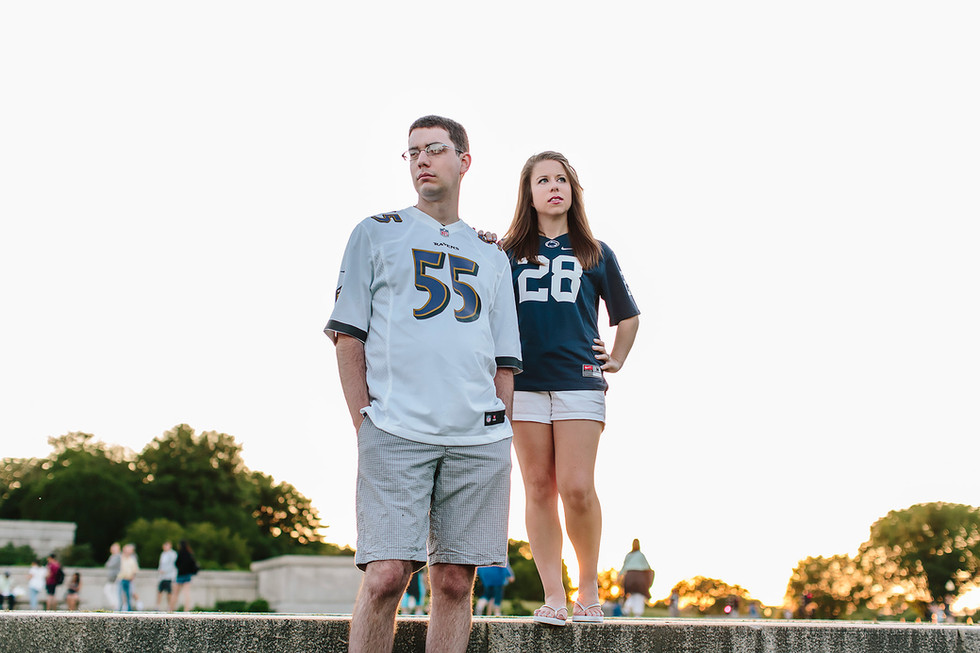 Football Jersey Engagement Photography