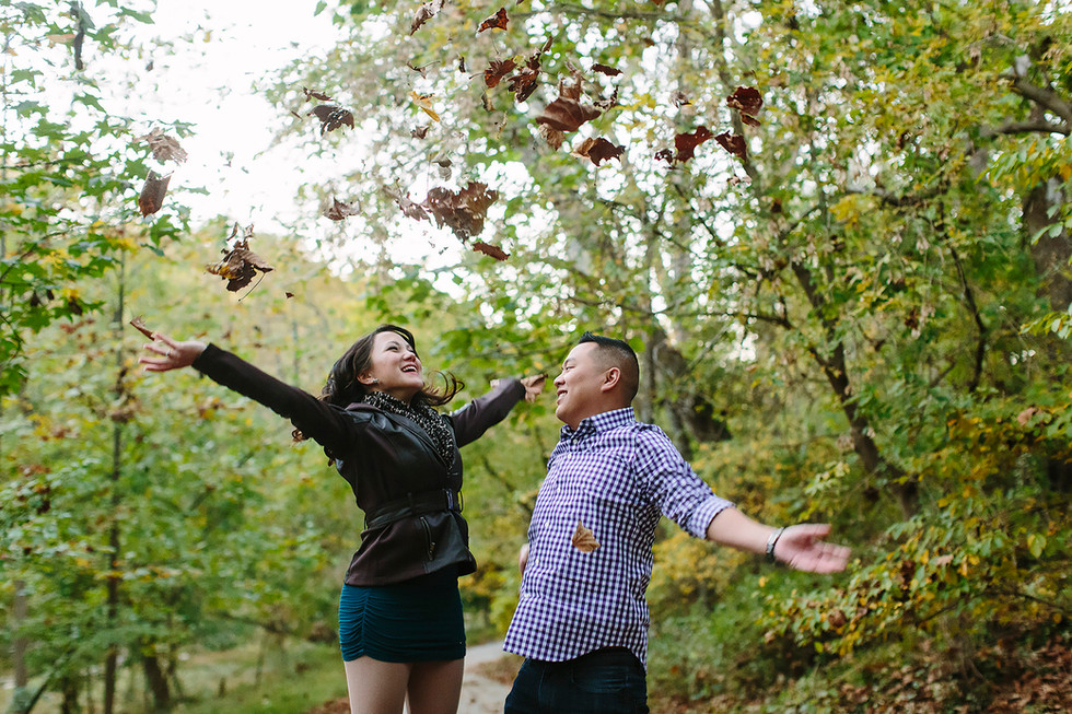 Fall Leaves Engagement Photography