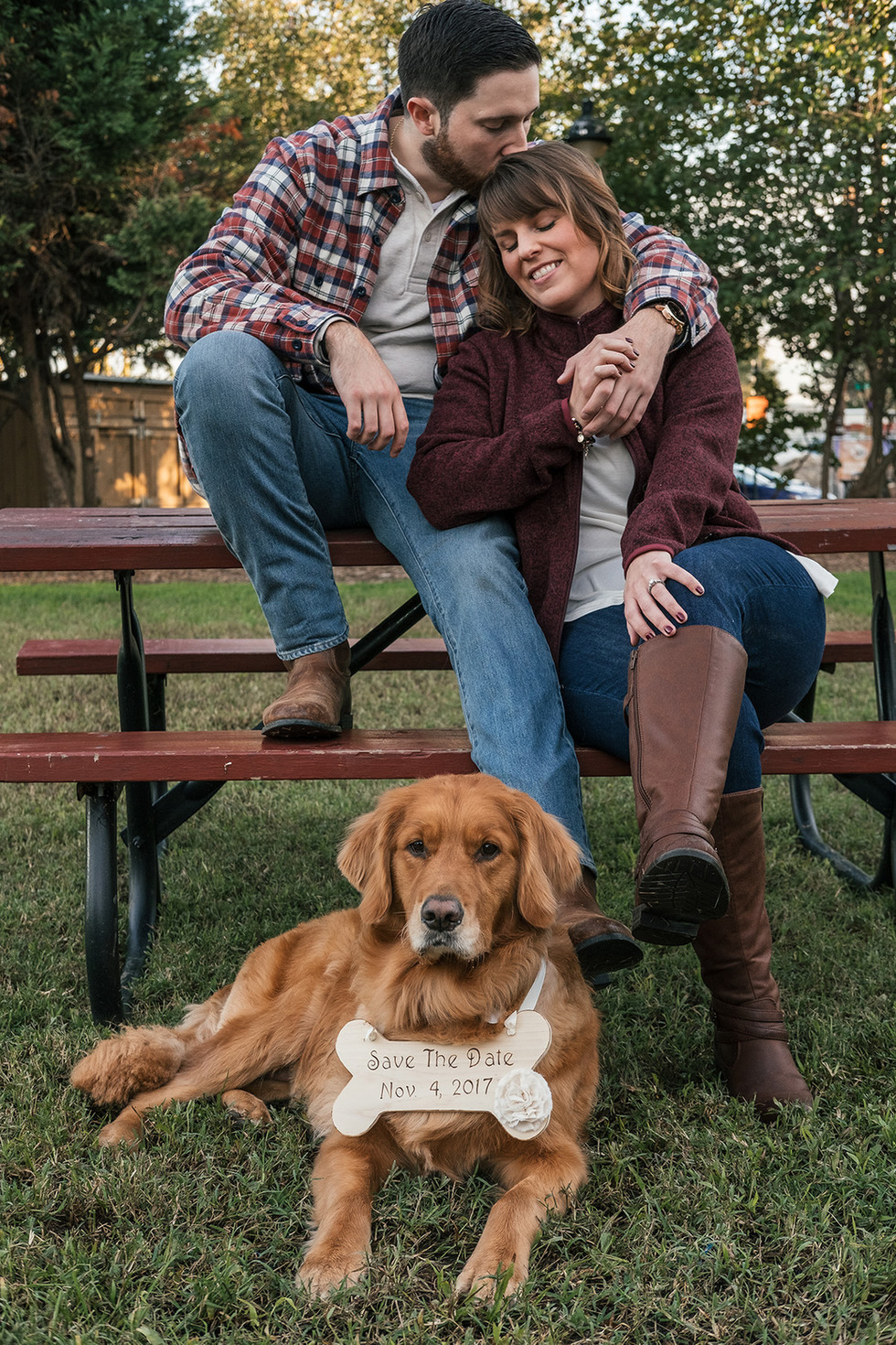Couple & Dog Save the Date