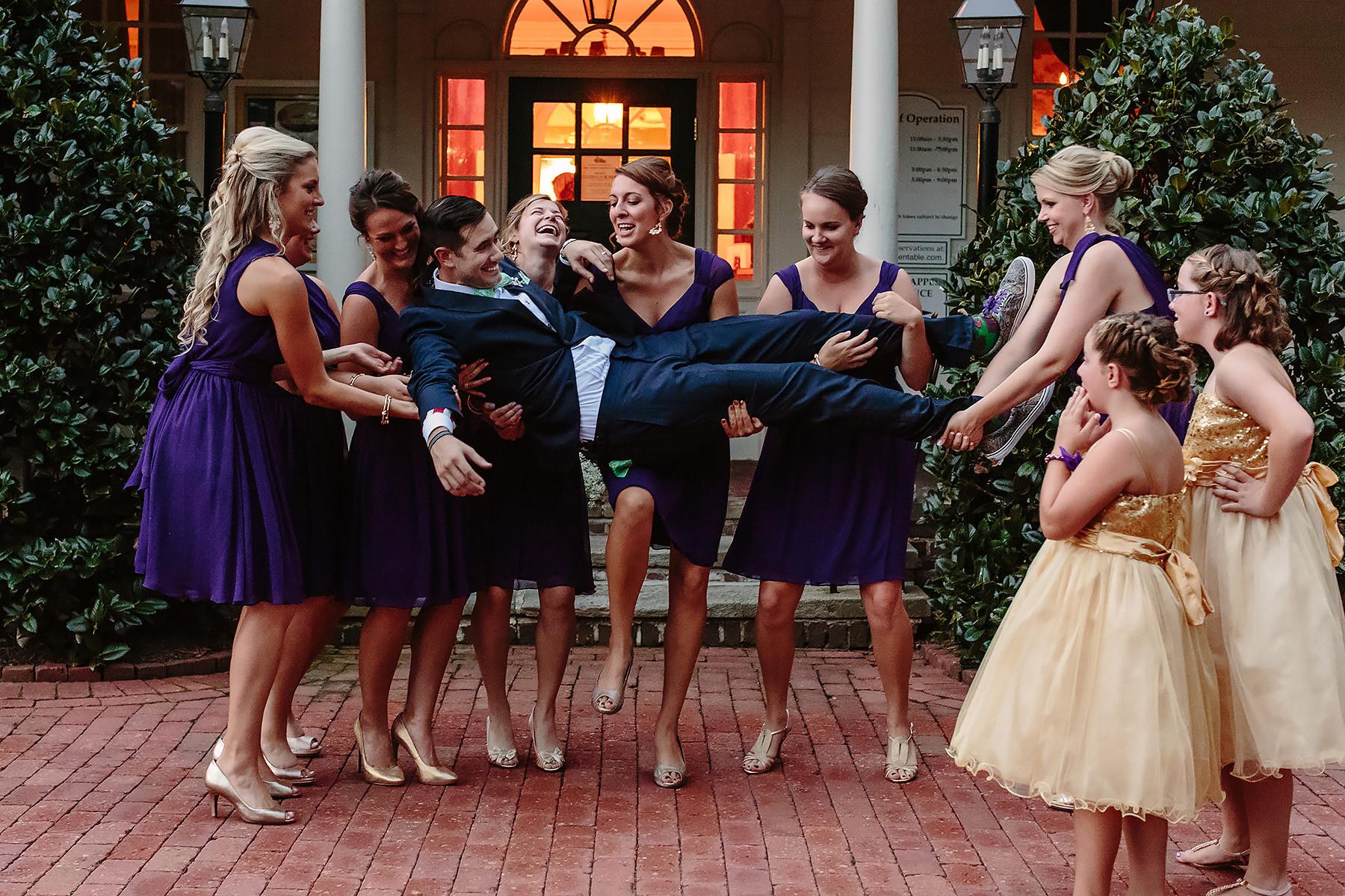 Bridesmaids & Groom Portrait