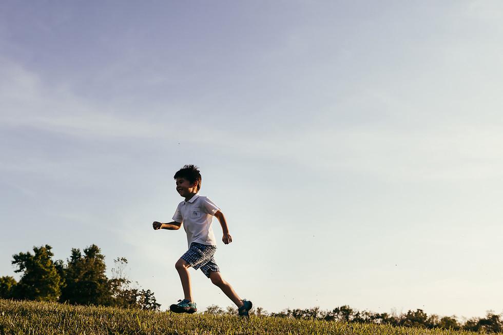 Running Boy Family Photography