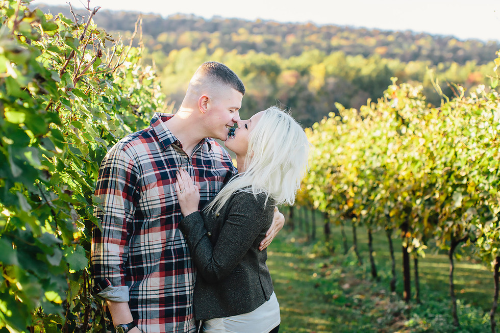 Winery Engagement Photography