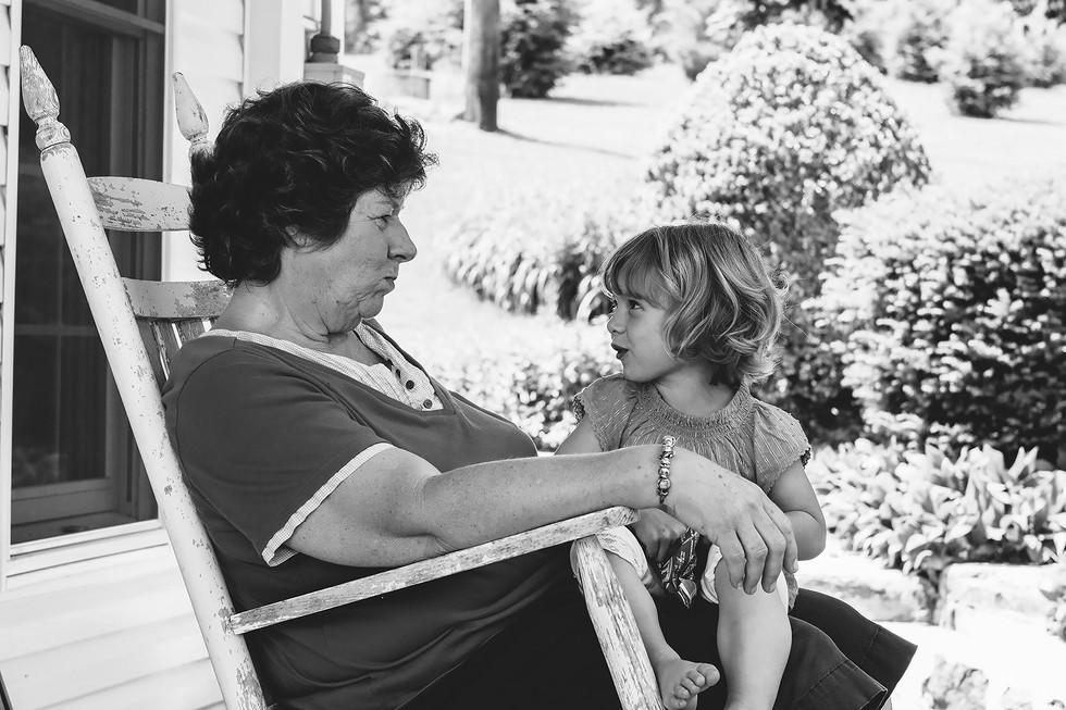 Grandmother & Granddaugther Family Photographer
