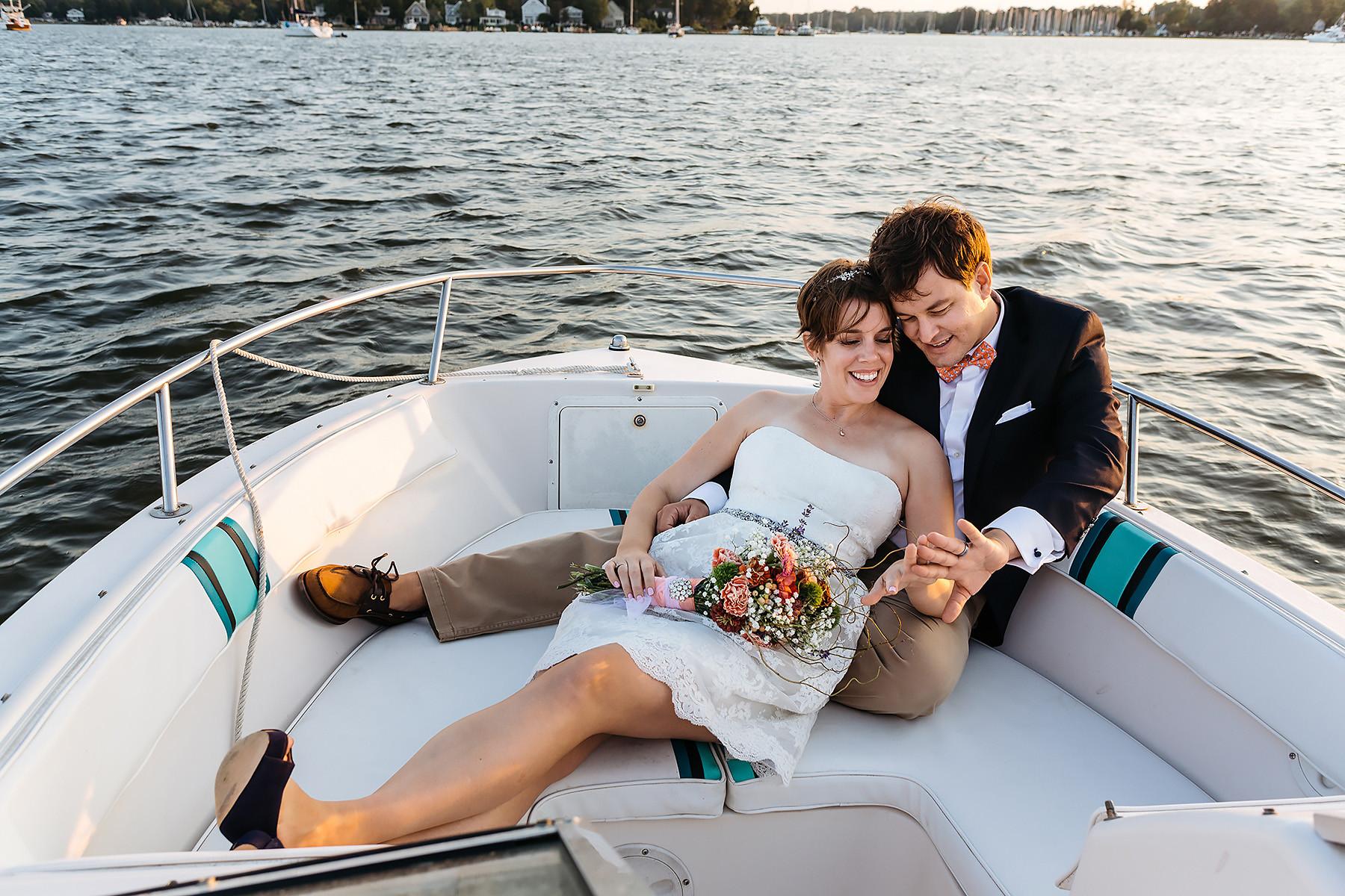 Wedding Day Boating